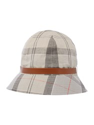 Barbour Tartan Trench Bucket Hat Grey