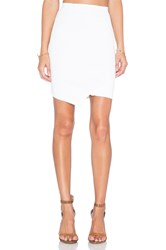 Central Park West Queensland Asymmetrical Skirt White