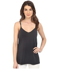 Splendid Sandwash Jersey With Drapey Lux Tank Top Black Charcoal Women's Sleeveless