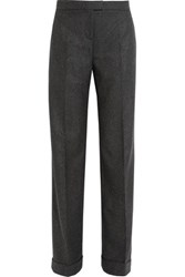 Michael Kors Collection Melange Wool And Cashmere Blend Wide Leg Pants Gray