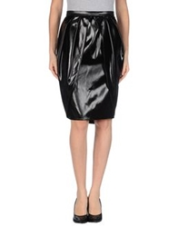 Fendi Knee Length Skirts Black