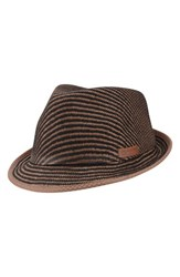 Men's Ben Sherman Straw And Cotton Trilby Chocolate Brown