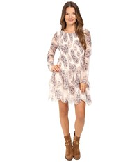 See By Chloe Crepon Paisly Tier Dress Winter White Women's Dress