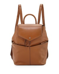 Tory Burch Avery Leather Backpack Tan