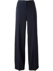 Dkny Wide Leg Trousers Blue