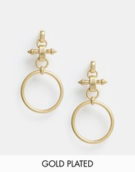 Pilgrim Nautical Statement Loop Earrings Gold