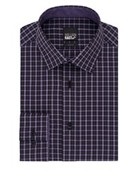 William Rast Slim Fit Checked Dress Shirt Milled Grape
