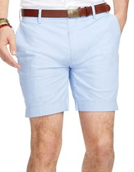 Polo Ralph Lauren Straight Fit Striped Poplin Shorts Blue