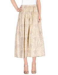 Local Apparel Skirts 3 4 Length Skirts Women Beige
