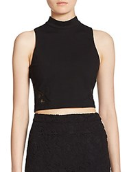 Parker Donner Lace Cropped Tank Black