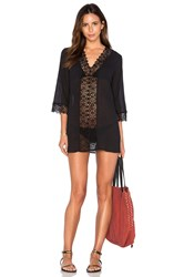 Seafolly Island Kaftan Black