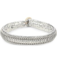 Maria Rudman Pewter Woven Track Thread Bracelet Silver Pewter