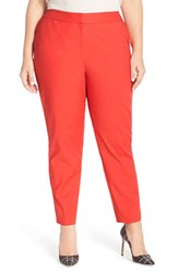 Plus Size Women's Sejour Ankle Pants Red Aurora