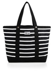 Polo Ralph Lauren Striped Canvas Tote Black White