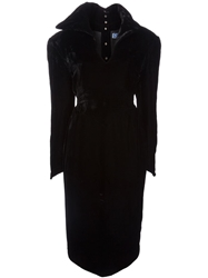 Thierry Mugler Vintage Over Sized Collar Dress Black