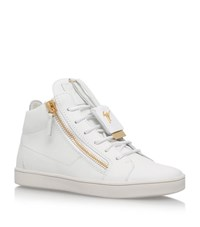 Giuseppe Zanotti Mid Top Keychain Sneakers Female White