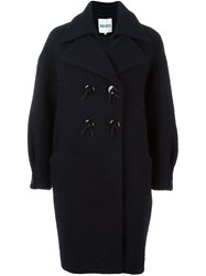Kenzo Double Breasted Coat Blue