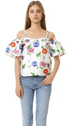 Re Named Floral Cold Shoulder Top Multi