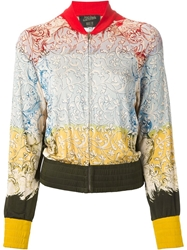 Jean Paul Gaultier Vintage Baroque Bomber Jacket Red