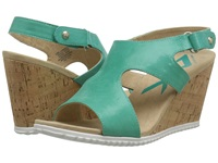 Anne Klein Minerva Teal Lagoon Reptile Women's Wedge Shoes Green
