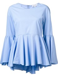 Milly Flared Blouse Blue