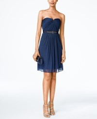 Adrianna Papell Strapless Ruched Dress Midnight