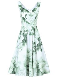 Jolie Moi Sweetheart Neckline Floral Printed Dress Light Green
