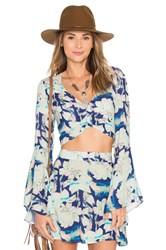 Flynn Skye Alyssa Crop Top Blue