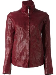 Isaac Sellam Experience 'Imprudente Crasser' Biker Jacket Red