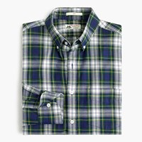 Slim Thomas Mason For J.Crew Flannel Shirt In Tartan Dark Hunter