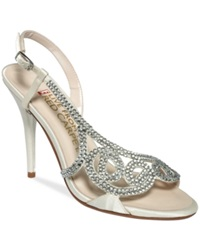 E Live From The Red Carpet E0014 Evening Sandals Women's Shoes Ivory Satin