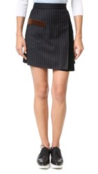 Sjyp Stripe Wrap Skirt Black