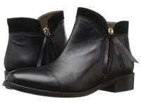 Bella Vita Dot Italy Black Italian Leather Suede Women's Boots