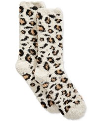 Charter Club Women's Leopard Print Butter Socks Only At Macy's