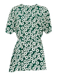 Whistles Daisy Print Tunic Green