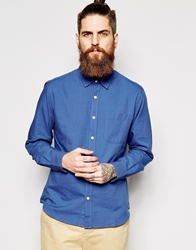 Ymc Shirt Pocket Long Sleeve Blue