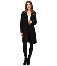 Vince Camuto Long Sleeve Drape Front Maxi Cardigan Black Women's Sweater