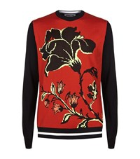 Mcq By Alexander Mcqueen Floral Crew Neck Sweater Male Multi