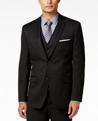 Alfani Red Men's Traveler Black Solid Slim Fit Jacket Only At Macy's