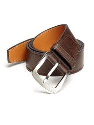 Shinola Leather Belt Coffee Espresso