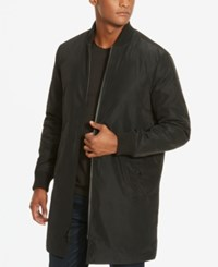 Kenneth Cole New York Men's Long Bomber Jacket Black