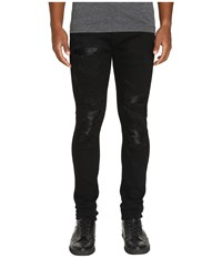 God's Masterful Children Amadeo Ripped Leather Jeans Black