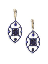 Ivy Diamond And Blue Sapphire Drop Earrings