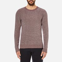 Oliver Spencer Men's Bamako Crew Neck Jumper Red Multi
