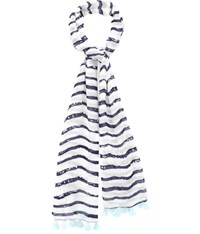 Cc Painted Stripe Tassel Detail Scarf
