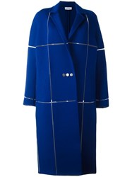 Courreges Oversized Long Coat Blue