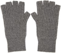 Rag And Bone Grey Cashmere Kaden Gloves