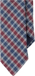 Barneys New York Plaid Neck Tie Red