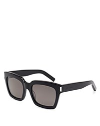 Yves Saint Laurent Oversize Square Sunglasses Black Smoke