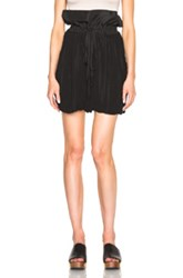 Tome Taffeta Matelasse Oversized Paper Bag Shorts In Black